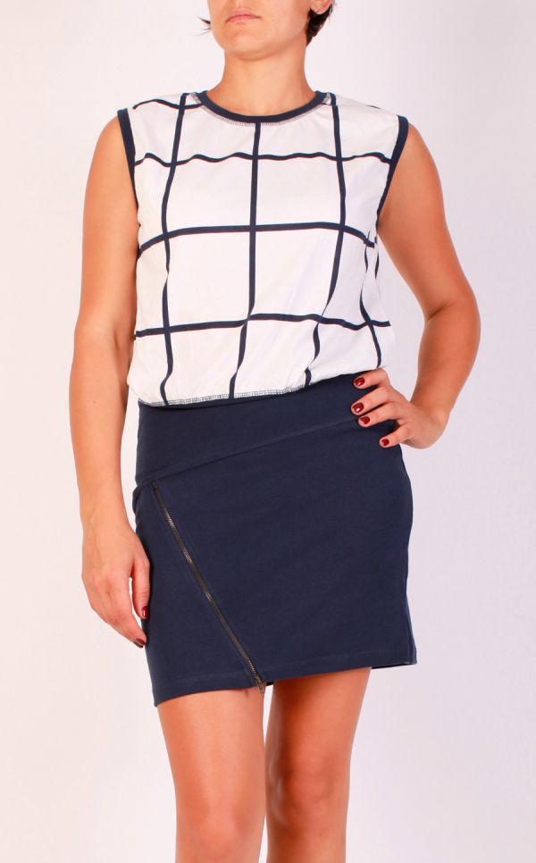 Vero Moda Big grid dress